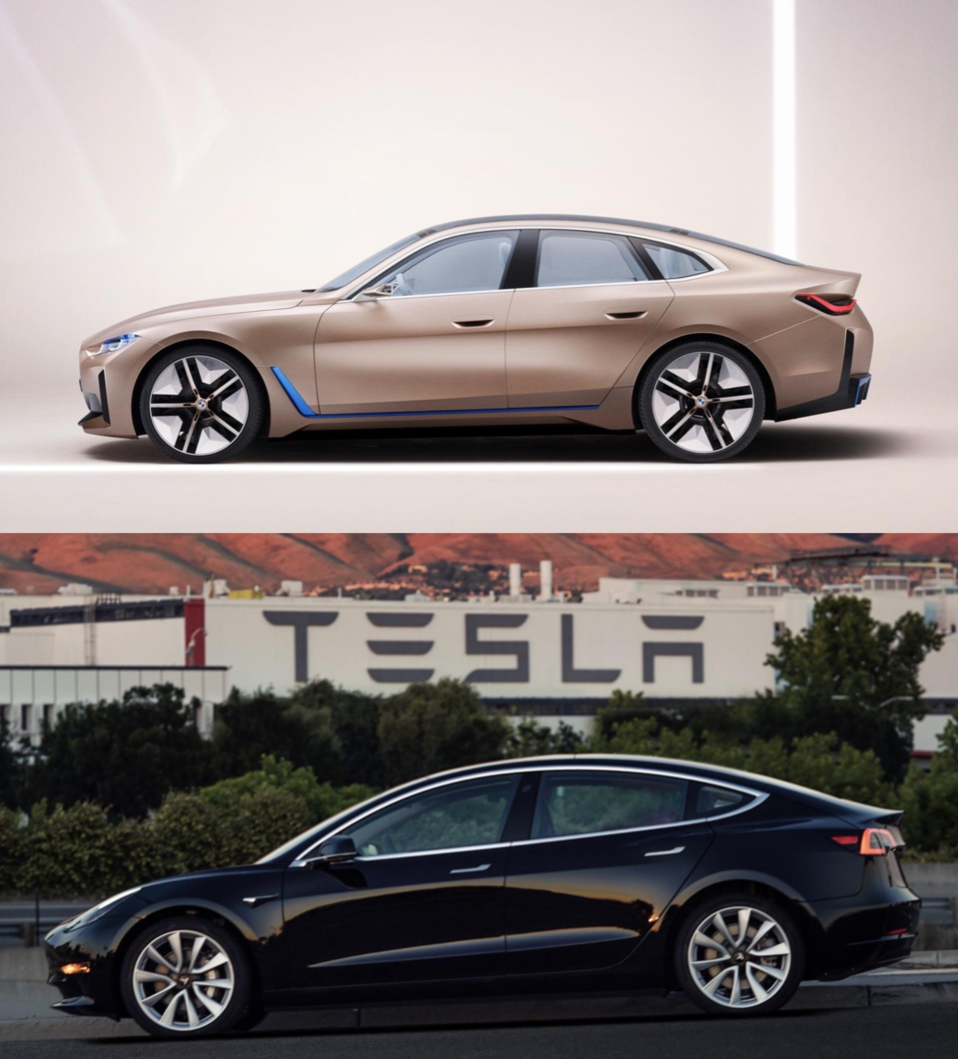 Comparison Tesla Model 3 Vs Bmw Concept I4 Which One Looks Best