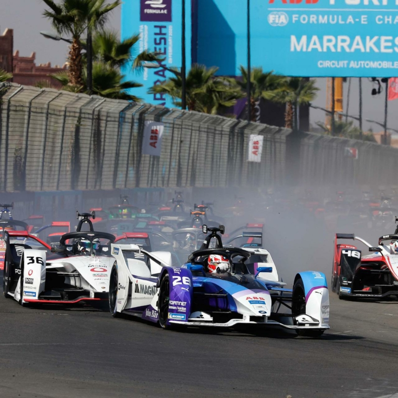 Marrakesh (MAR), 29th February 2020. Marrakesh E-Prix, BMW i Andretti Motorsport, Maximilian Günther (GER) No. 28 BMW iFE.20