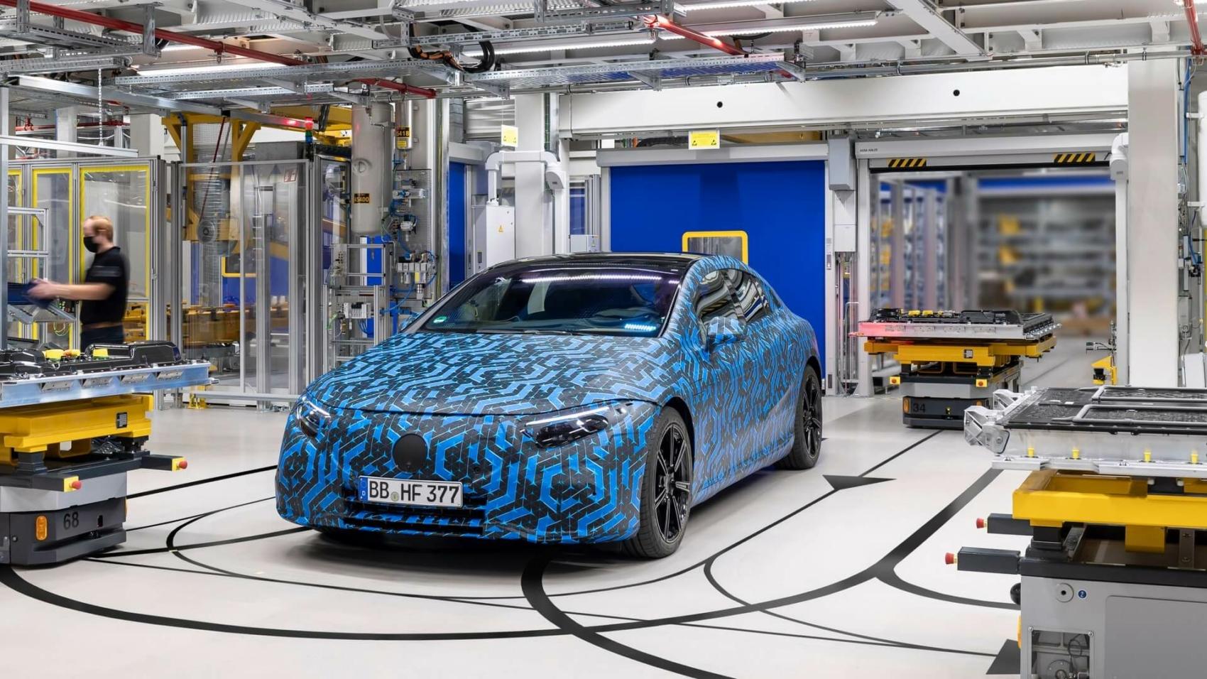 2022 Mercedes EQS pre-production