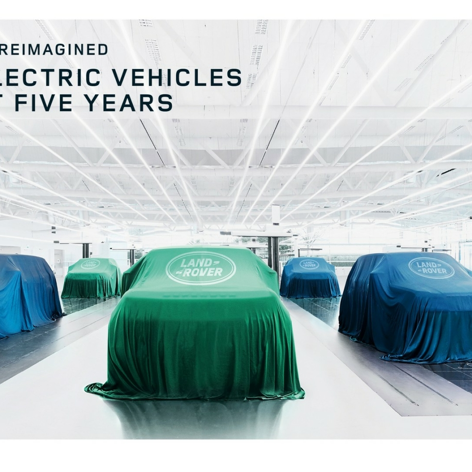 Six electric Land Rover models