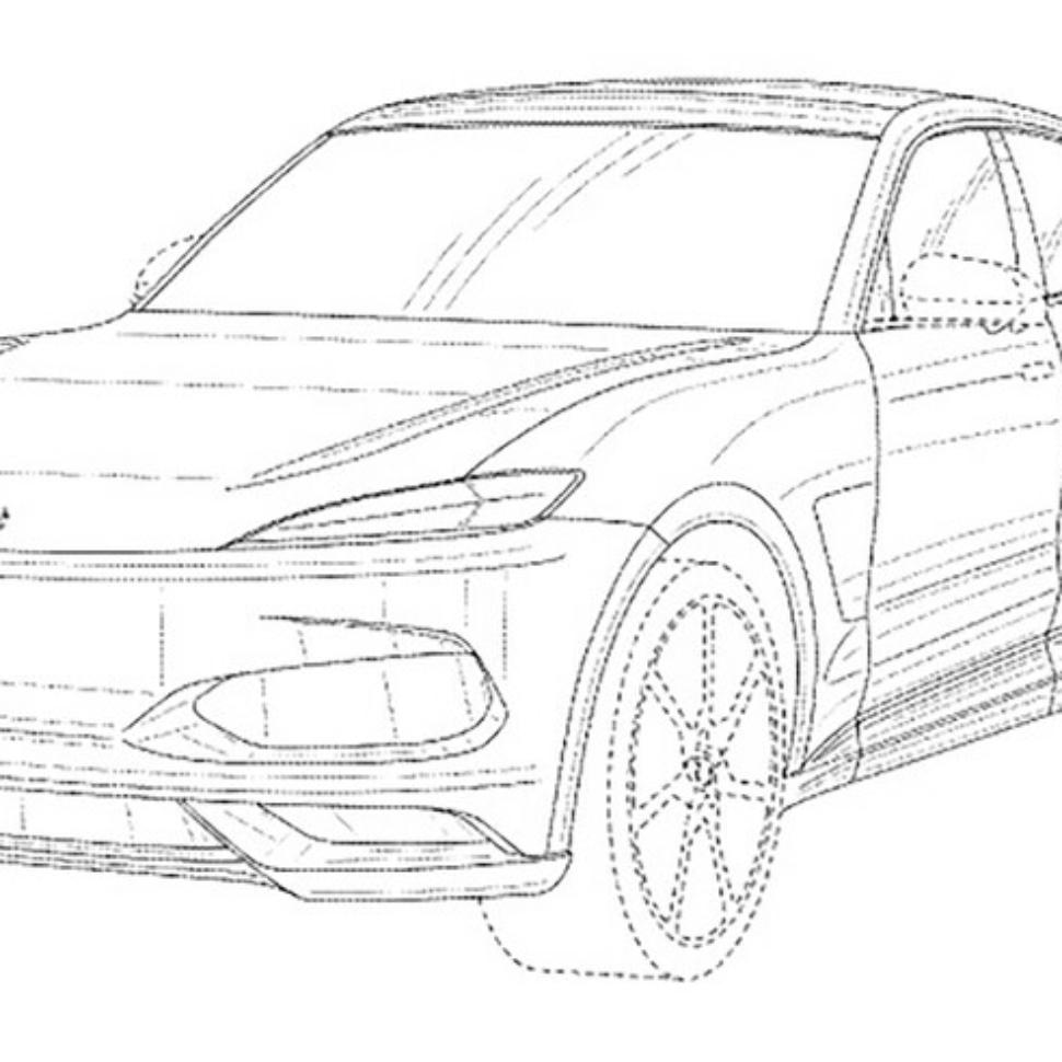 Karma electric SUV patent image