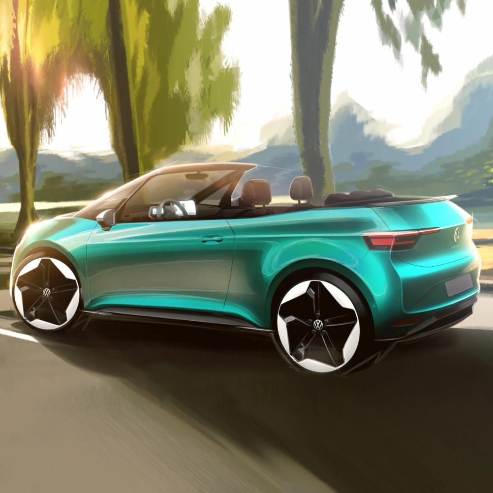 Volkswagen ID.3 convertible official sketch