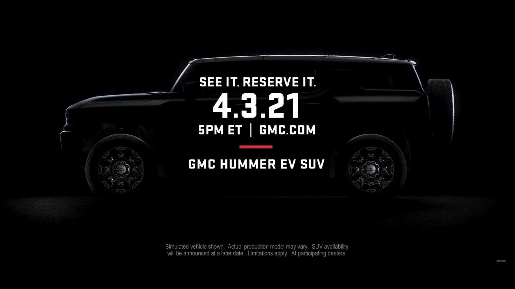 2022 GMC Hummer EV SUV teaser
