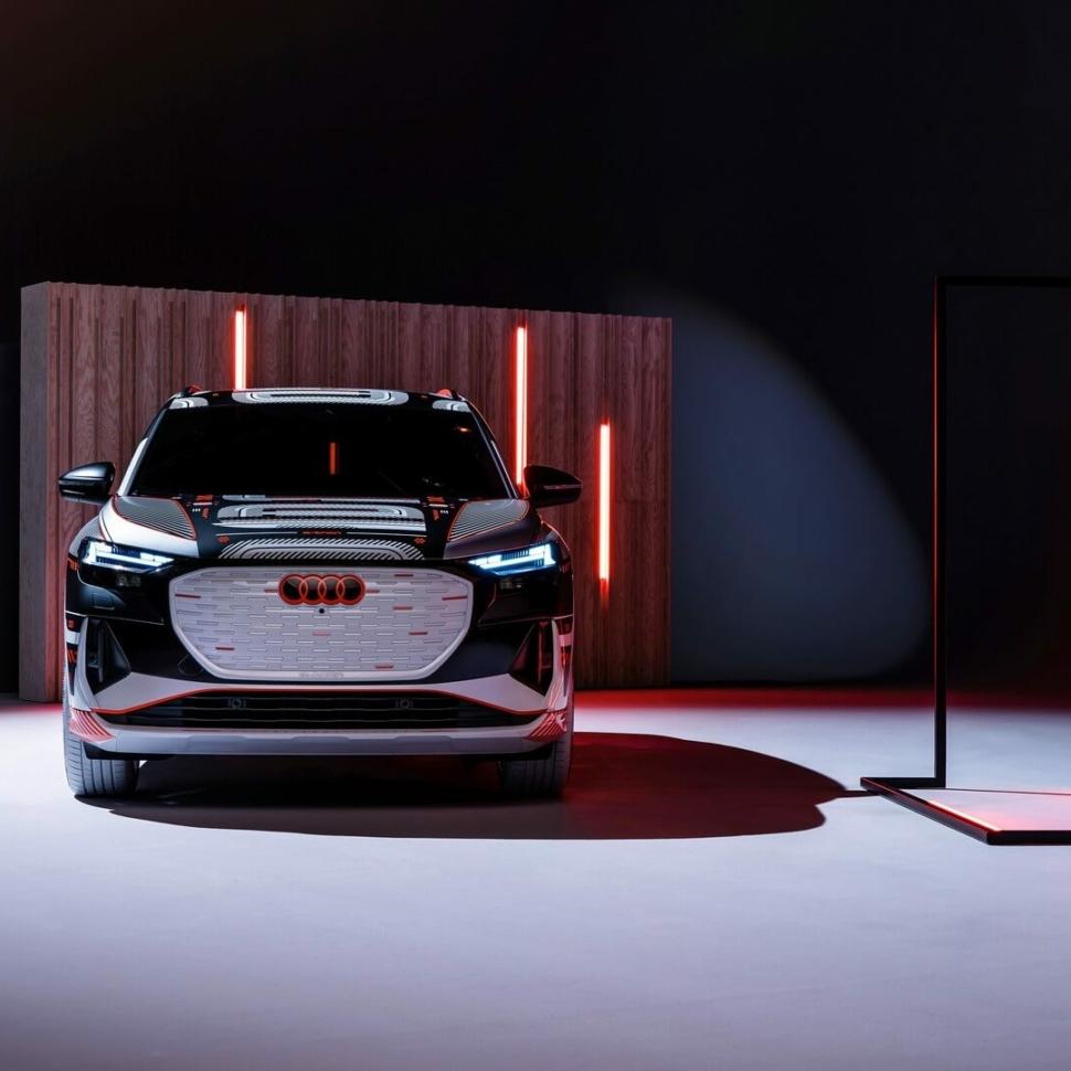2022 Audi Q4 E-Tron camouflaged exterior