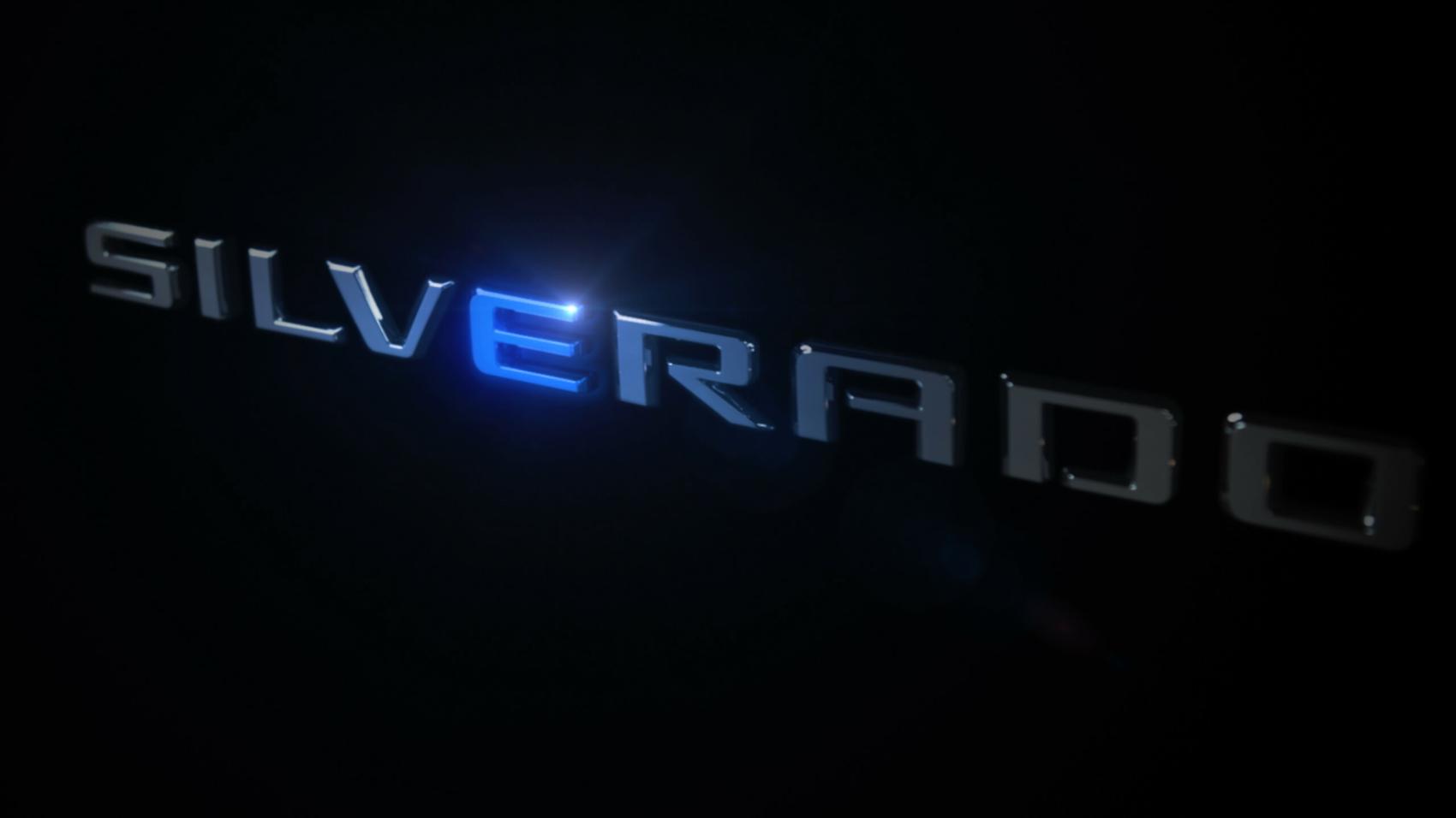 Chevy Silverado electric teaser