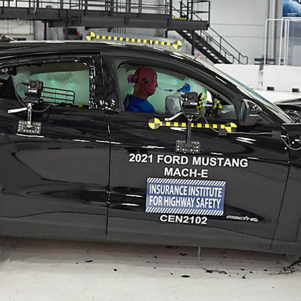 Ford Mustang Mach-E IIHS crash test