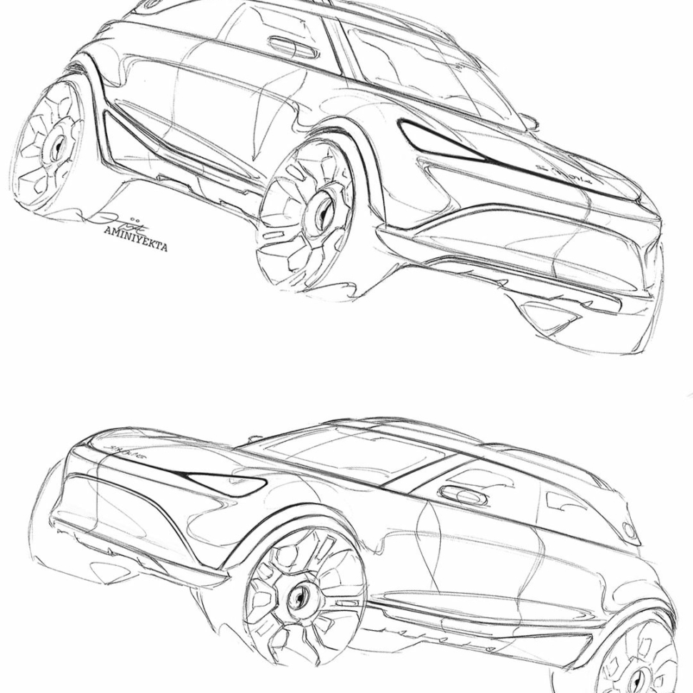 Smart electric crossover concept teaser
