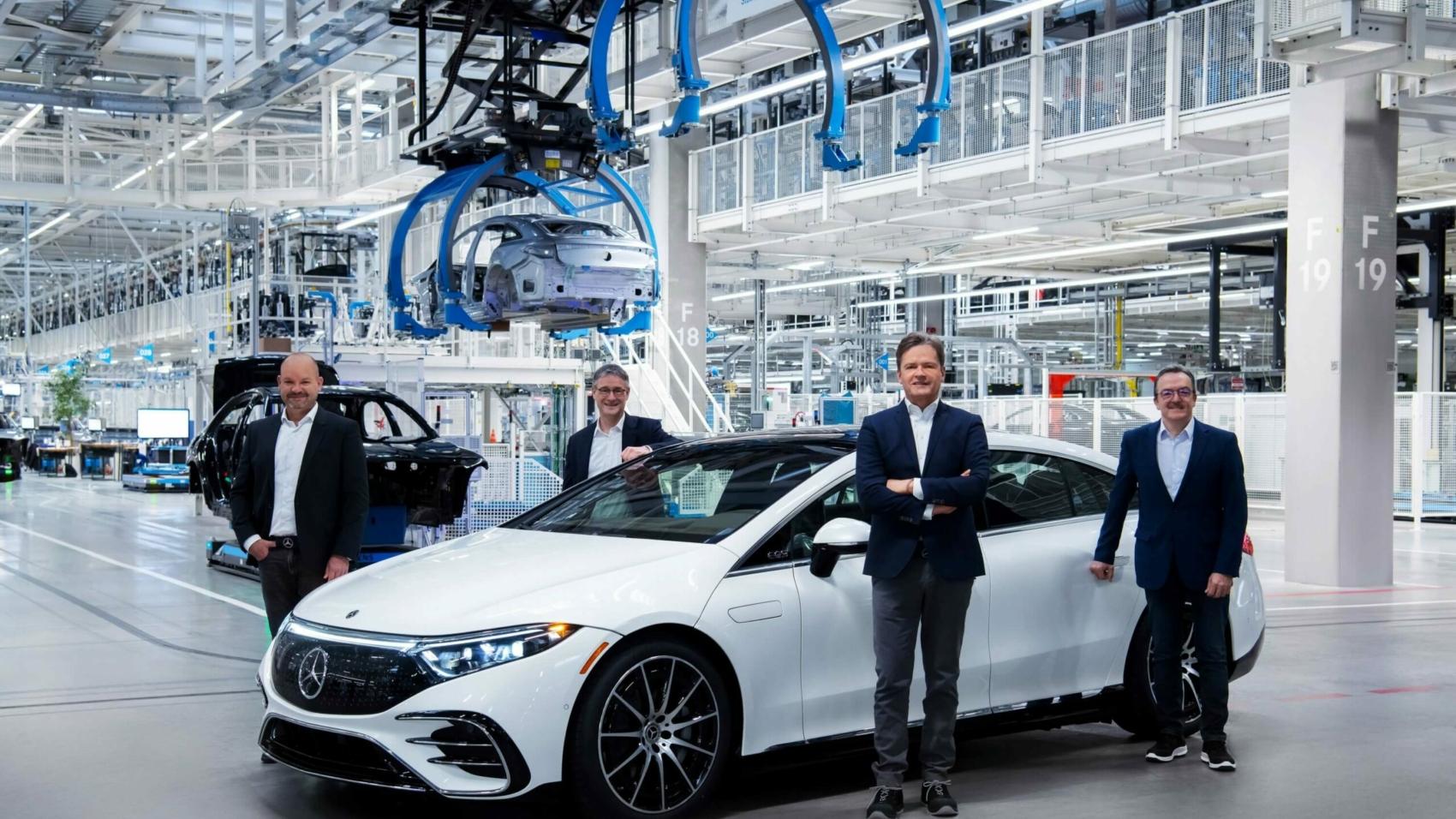 Mercedes EQS production at Factory 56