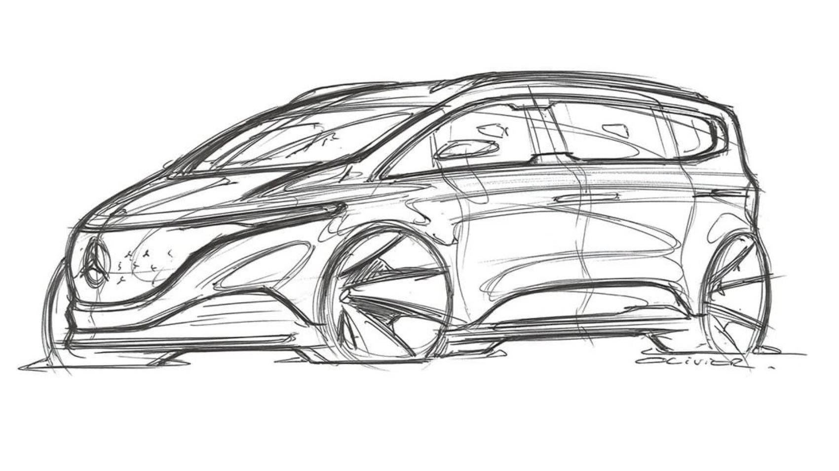 Mercedes EQT design sketch